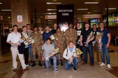 Australian Army Cricket Team lands in Pakistan