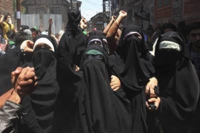 Kashmiri Women hold pro-freedom rallies across IOK