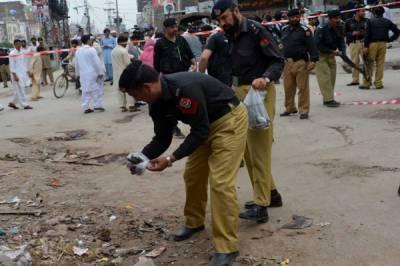 Bomb blast in Peshawar along roadside