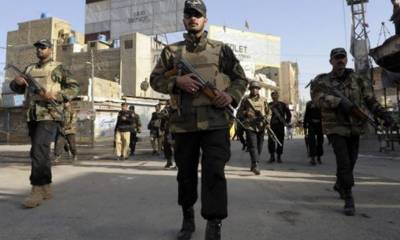 Four terrorists killed by security forces in shoot out, three cops injured