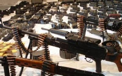 Huge cache of arms and ammunitions recovered