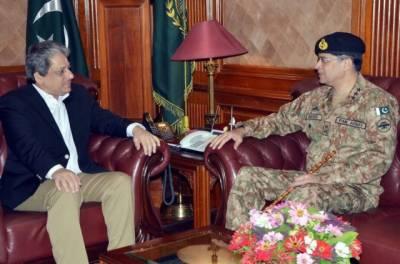 Corps Commander Karachi Lt. Gen. Naveed Mukhtar calls on Governor Sindh