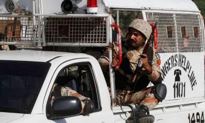 Pakistan Rangers Sindh gun down three hardcore terrorists