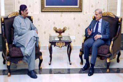 Shehbaz Sharif - Murad Ali Shah meeting at Lahore Airport