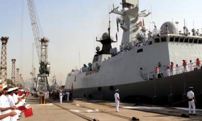 Chinese Naval Ships dock at Karachi for bilateral exercise with Pak Navy