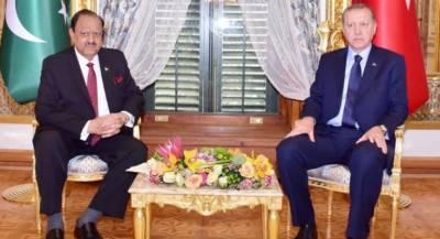 Tayyip Erdogan calls on President Mamnoon Hussain