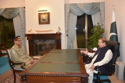 General Qamar Javaid Bajwa calls on PM Nawaz Sharif