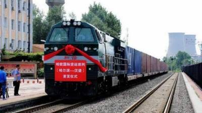 Chinese Cargo train leaves Yunnan for Karachi