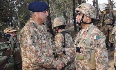 COAS General Qamar Bajwa visits troops at forward locations on LoC