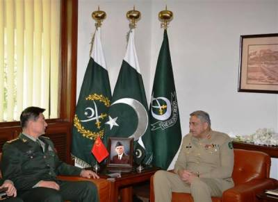 Commander Chinese Army calls on COAS General Qamar Bajwa at GHQ
