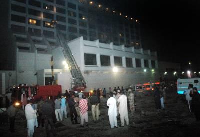 Pakistani cricketers hurt by massive fire at Karachi Hotel