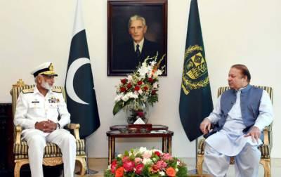 Chief of Naval Staff calls on PM Nawaz Sharif