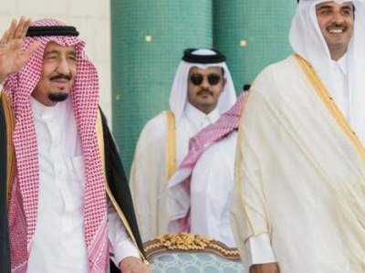 Saudi King Salman on regional strategic tour lands in Qatar