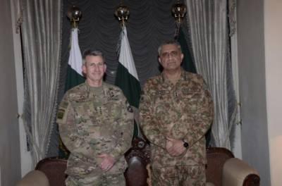 General John Nicholson calls on COAS General Bajwa