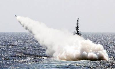 PAF and Pak Navy Chief witness live missile firing in Arabian Sea