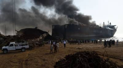 Blast at the Gadani Ship Breaking Yard
