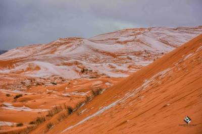 Sahara desert witnesses snowfall after 40 years