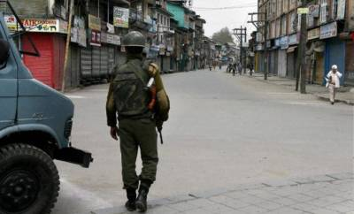 Complete shut down in Indian Occupied Kashmir