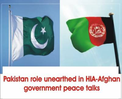 Pakistan facilitated peace talks between HIA-Afghan government