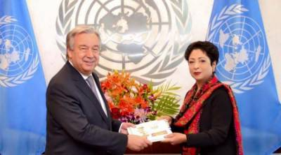 Maleeha Lodhi meets UN Chief, briefs on Kashmir
