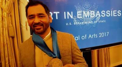 Pakistani Artist awarded with Medal of Arts by US State Department