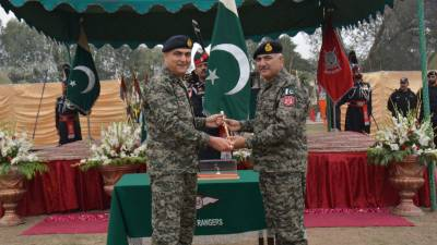 Major General Azhar Naveed Khan takes over command of Punjab Rangers