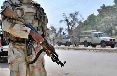 FC Balochistan recovers huge cache of arms from BLA hideout
