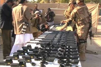 Pakistan Army recovers huge cache of weapons