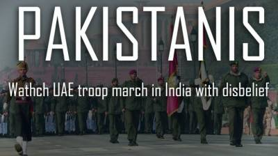Pakistanis watch Emirati troop march in India with disbelief
