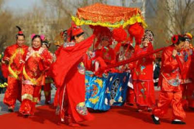 Chinese celebrating lunar new year today