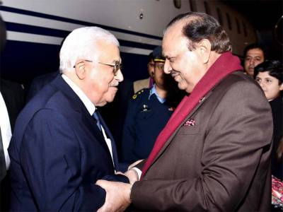 Palestinian President discusses bilateral ties with President Mamnoon