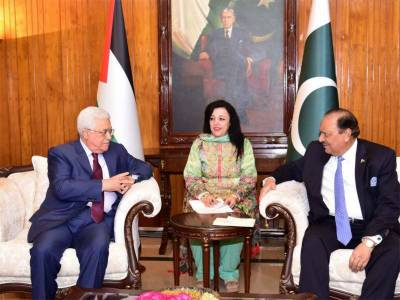 Palestinians are grateful to Pakistanis for the cause of Palestine: President Mehmood Abbas