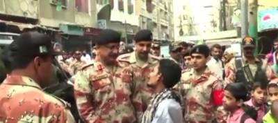 DG Rangers Sindh Major General Muhammad Saeed visits Lyari
