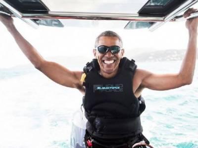 Barack Obama enjoying vacations at the luxury Carribean Islands