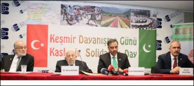 Turkey reaffirms support for Kashmir issue