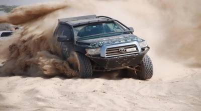 12th Cholistan Desert Jeep rally kicks off with women drivers in seat
