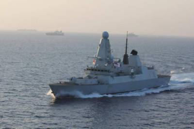 AMAN: Royal Navy's type 45 destroyer HMS DARING docks at Karachi