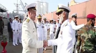 Pakistan Navy Chief visits Russian and Turkish Naval Warships