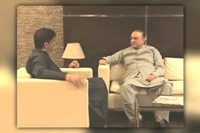Asif Zardari lands in Karachi