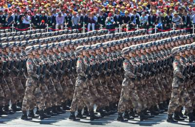 Chinese Army holds massive counter terrorism march in restive Xinjiang province