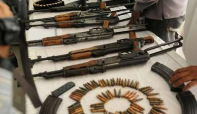 Sindh Rangers recover huge quantity of arms from Karachi