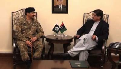 Corps Commander Karachi meets CM Sindh:Karachi operation discussed