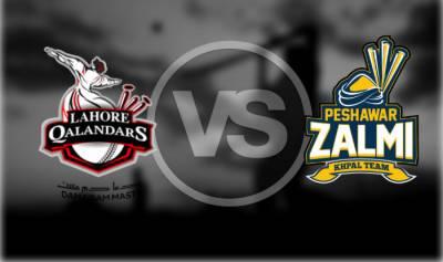 Peshawar Zalmi Vs Lahore Qalandars match update live