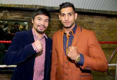 Boxer Amir Khan - Manny Pacquiao fight date confirmed