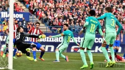 Lionel Messi strikes hard for Barcelona
