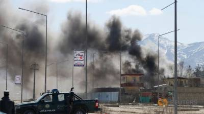 Kabul resonates with suicide blasts and rocket attacks