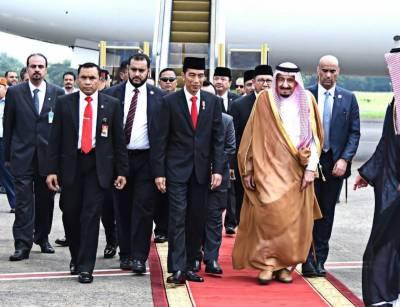 Saudi Arabia's King Salman arrives in Jakarta