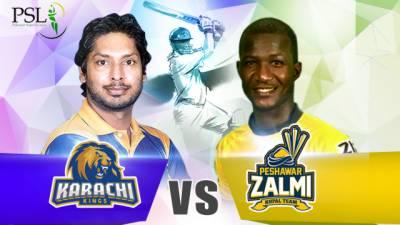 Peshawar Zalmi Vs Karachi Kings match scorecard