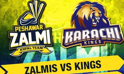 Peshawar Zalmi Vs Karachi Kings match update