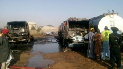Suicide bombers destroy 3 fuel tankers in Northeast Nigeria
